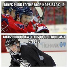 Oleksy vs. Crosby ~Washington Capitals~ God I love this team. I bleed red, white, and blue.