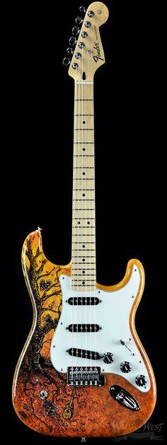 Fender Special Edition David Lozeau Art Stratocaster Tree of Life