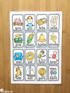 Ord- og bildekort: en gavepakke for TPO Kids And Parenting, Norway, Discovery, Kindergarten, Barn, Education, Learning, Homeschooling, Children