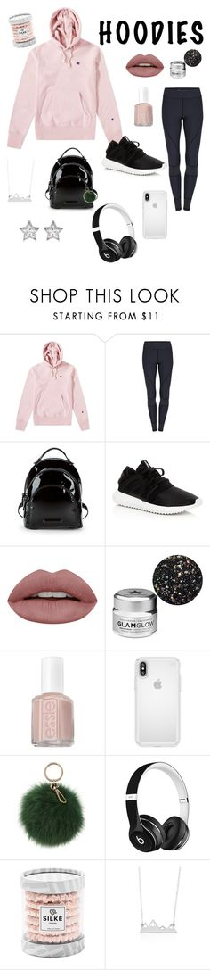 """""""Cozy Winter Outfit"""" by zoedc190 on Polyvore featuring Champion, Kendall + Kylie, adidas, GlamGlow, Essie, Speck, Coccinelle, Beats by Dr. Dre, CZ by Kenneth Jay Lane and Hoodies"""