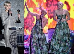 Miley Cyrus Rocks World Music Awards 2014 in a Strapless Gown Fashion