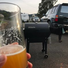 I have missed these days. #lifesessentials #beer #traeger #dog #landcruiser Reposted Via @thatmacguyor