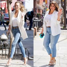 """""""It's Time to Stop Feeling Bad About Yourself"""": How Megababe Katie Sturino Is Transforming the Fashion & Beauty Industry Big Girl Fashion, Curvy Fashion, Plus Size Fashion, Fashion Beauty, Casual Day Outfits, Curvy Outfits, Stylish Outfits, Shirred Dress, Belted Dress"""