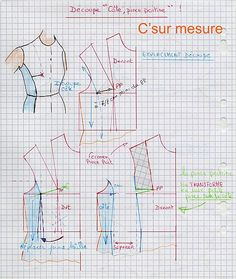 Dress pattern off shoulder 39 ideas Couture Main, Coin Couture, Couture Sewing, Sewing Basics, Sewing Hacks, Sewing Tutorials, Techniques Couture, Sewing Techniques, Sewing Clothes