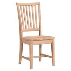 Showcasing an understated Mission-inspired silhouette, this wood side chair brings sleek style to your dining room or breakfast nook.  ...
