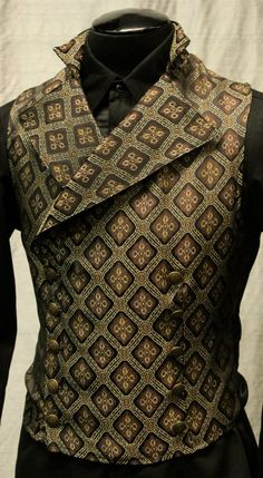 CAVALIER VEST - BROWN/GOLD DIAMOND
