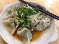 Handmade chive dumplings