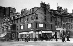 Old photograph of Princes Street, Edinburgh, Scotland