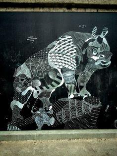 Philippe Baudeloque - street art - Paris 7, berges de seine