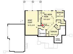 Craftsman Gem with Optional Lower Level - floor plan - Optional Finished Lower Level 4 Bedroom House Plans, House Floor Plans, Prep Sink, Basement Layout, Built In Seating, Elegant Dining Room, Shared Bedrooms, Architectural Design House Plans, Entry Hall