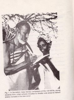 Somali Nomad learns to write in the 1970's