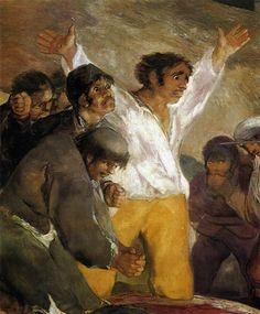 Francisco de Goya, Testigos del horror: Los fusilamientos del 3 de mayo, ejército de Napoleón, Francia, Levantamiento popular