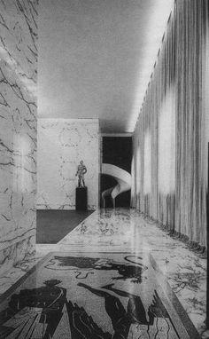 Palestra di mussolini - Moretti Architecture Details, Interior Architecture, Interior And Exterior, Interior Design, Space Interiors, World Of Interiors, Foto Sport, Genius Loci, Archi Design
