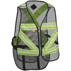 Cycling Vest, Safety Clothing, Neon Outfits, Cotton Gloves, Uniform Shirts, Seattle, Outdoor Workouts, Black Mesh, Work Wear