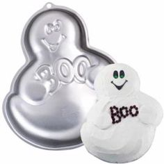 Wilton GHOST BOO Cake Pan 21051077 ** Check this awesome product by going to the link at the image. (This is an affiliate link) Decorating Supplies, Baking Supplies, Cake Pan Sizes, Wilton Cake Pans, Cake Cookies, Kitchens, Amazon, Halloween, Awesome