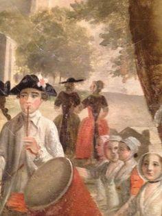 La promenade aux Alyscamps, Antoine Raspal Arlésiennes portant leur droulet  Costume Provençal Hôtel d'Agar, Cavaillon