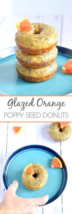 These baked orange poppy seed donuts with a delicate citrus flavor are extremely addictive! | Del's cooking twist