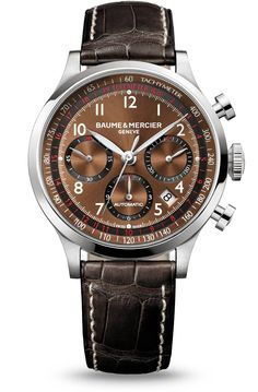 The Capeland 10083 automatic chronograph watch for men, designed by Baume et Mercier, Swiss Watch Maker.