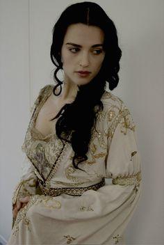 Katie McGrath - Merlin wardrobe test (white)