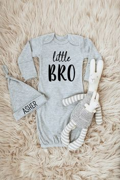 Little Bro Outfit Little Brother Onesie Baby Boy Coming Home Outfit Newborn Boy Coming Home Outfit Baby Boy Clothes Little Bro Personalized Newborn Outfit Baby Boy Outfits - Unique Baby Outfits Newborn Baby Boy Gifts, Newborn Boy Clothes, Baby Shower Gifts For Boys, Cute Baby Clothes, Baby Boys, Boy Onesie, Baby Boy Outfits, Kids Corner, Auntie