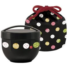 New-Arrival-Cafe-Bowl-Bento-Lunch-Box-Purse-Rabbit-Made-in-Japan-Black
