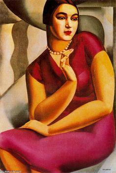 Portrait de la duchesse de Valmy  Tamara de Lempicka  Media Oil  Style Art Deco  Subject Portrait