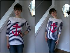 I'd like to make a shirt like this with a gold anchor with fabric paint