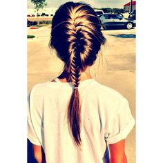 15 Cute French Braid Hairstyles ❤ liked on Polyvore featuring hair, hairstyles and pictures