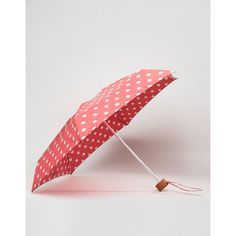 Cath Kidston Tiny Button Spot Print Umbrella in Cranberry (305 ARS) ❤ liked on Polyvore featuring accessories, umbrellas, red, red polka dot umbrella, lightweight umbrella, cath kidston, polka dot umbrella and dot umbrella