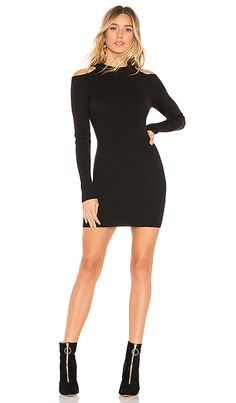 777405ebfb68 by the way. Tula Cold Shoulder Sweater Dress in Black | REVOLVE Cold  Shoulder,