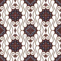 Seamless Javanese Batik Pattern Stock Photo