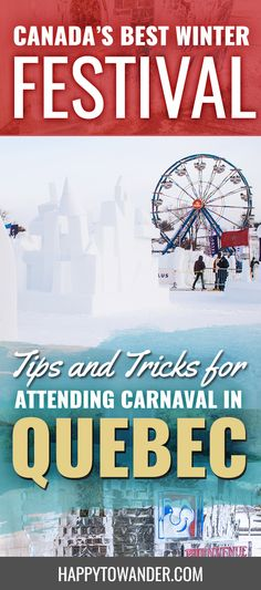 A full guide to attending the Quebec Winter Carnival, one of the largest winter festivals in the world. If you're planning to travel to #Canada, don't miss this amazing opportunity. #Travel #CanadaTravel #Carnival