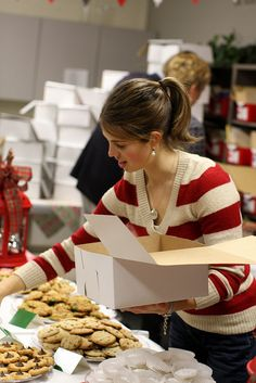 Teacher Cookie Exchange--A 'Charitable' event where parents bake cookies as a gift to the teachers. . .Details/Planning included. . . Great idea!!