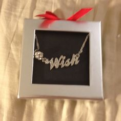 "Wish necklace in gift box Lane Bryant ""WISH"" necklace in gift box. Lane Bryant Jewelry Necklaces"