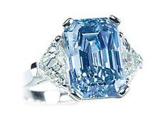 The Ocean Blue Diamond. A 6.60 carat Intense Blue Rectangular cut diamond.