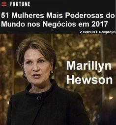 ✔ Brazil SFE Biography®: Marillyn Hewson - 51 Mulheres Mais Poderosas do Mundo nos Negócios em 2017