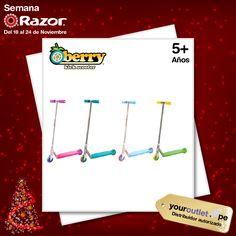 El mejor regalo de #Navidad para l@s engreíd@s está aquí: scooters Berry de Razor. Disponible en cuatro combinaciones de colores frescos.  Aprovecha el 20% de descuento adicional toda esta semana en nuestro Showroom 3006 en Compupalace o comprando en nuestra web.