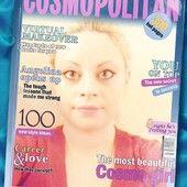 Sara's Cosmopolitan Cover. The portrait shows Sara Adeline Mazzolini in 2015. Self-portrait in France. Photo shared via Share.Pho.to