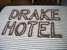"CHENILLE BEDSPREAD CUTTER ""COL. DRAKE HOTEL"" TITUSVILLE PA"