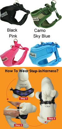 Air-Flex Step-in Dog Harness at The Animal Rescue Site   These harnesses are measured according to the body size for $19.95 and 28 bowls of food gets donated