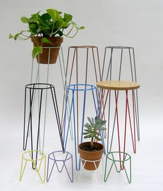 Wirely – Plant stands and tables come in multiple colours. • Available at thebigdesignmarket.com