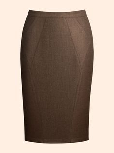 Falda con frente en forma de rombo