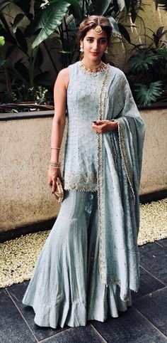 16 Bride-Worthy Outfits We Spotted on Celebs at Sonam Kapoor's Wedding! Indian Bridal Sarees, Indian Bridal Fashion, Indian Wedding Outfits, Bridal Outfits, Indian Outfits, Bridal Dresses, Bridesmaid Dresses, Dress Wedding, Indian Anarkali