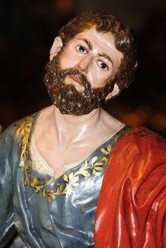 La Última Cena. Cofradía de Ntro. Padre Jesús Nazareno de Murcia. Obra de Francisco Salzillo. 1763 || San Simón: manifiesta asombro  ante lo que está ocurriendo.