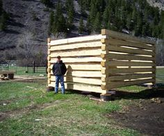 How to build a log cabin with dovetail notches - 7 steps #instructables video: https://www.youtube.com/watch?v=-UX_b1YXn7c