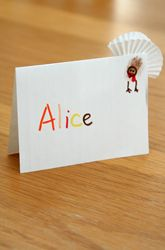 First Grade Thanksgiving Activities: Make Thanksgiving Turkey Place Cards