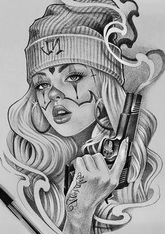 Chicano Tattoos Sleeve, Chicano Style Tattoo, Girl Arm Tattoos, Small Girl Tattoos, Tattoo Lettering Design, Estilo Cholo, Chicano Drawings, Cholo Art, Graffiti Tattoo