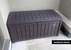 $ハンサム収納・インテリア-Keterベンチにもなる樹脂屋外収納ボックス