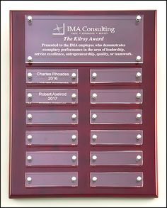 Rosewood High Gloss Perpetual Plaque