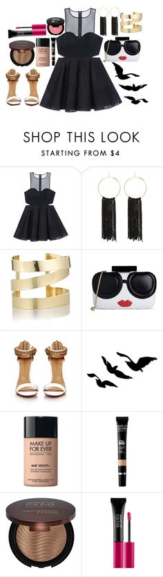"""""""Make up for ever"""" by zahra-kasim ❤ liked on Polyvore featuring Bebe, Étoile Isabel Marant, Alice + Olivia and MAKE UP FOR EVER"""